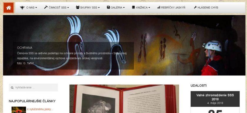 nová webstránka, Nová webstránka SSS, Slovenská speleologická spoločnosť, Slovenská speleologická spoločnosť