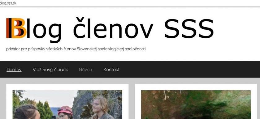 blog, Nový blog pre členov SSS, Slovenská speleologická spoločnosť, Slovenská speleologická spoločnosť